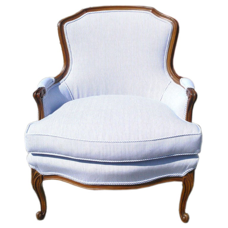 Pair Of French Style Bergere Chairs At 1stdibs
