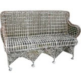 Antique Wire Garden Bench Settee