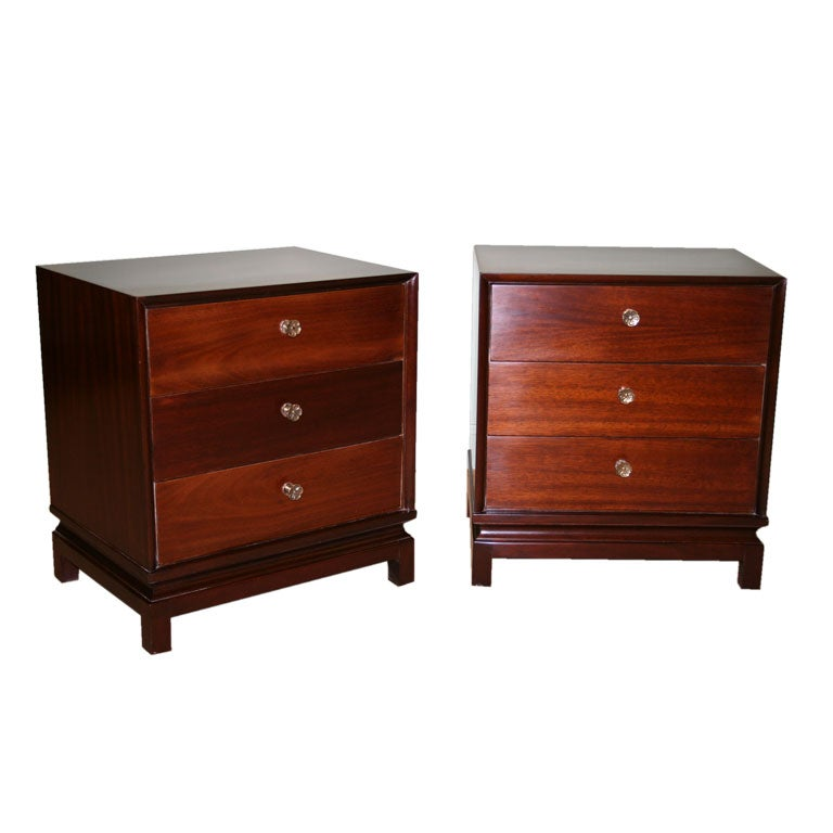 Modern mahogany nightstands at 1stdibs for Modern nightstands for sale
