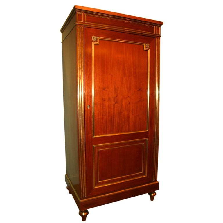 louis xvi style armoire at 1stdibs. Black Bedroom Furniture Sets. Home Design Ideas