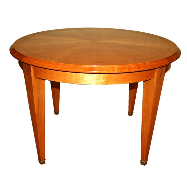 Oval Cherry Wood Table At 1stdibs
