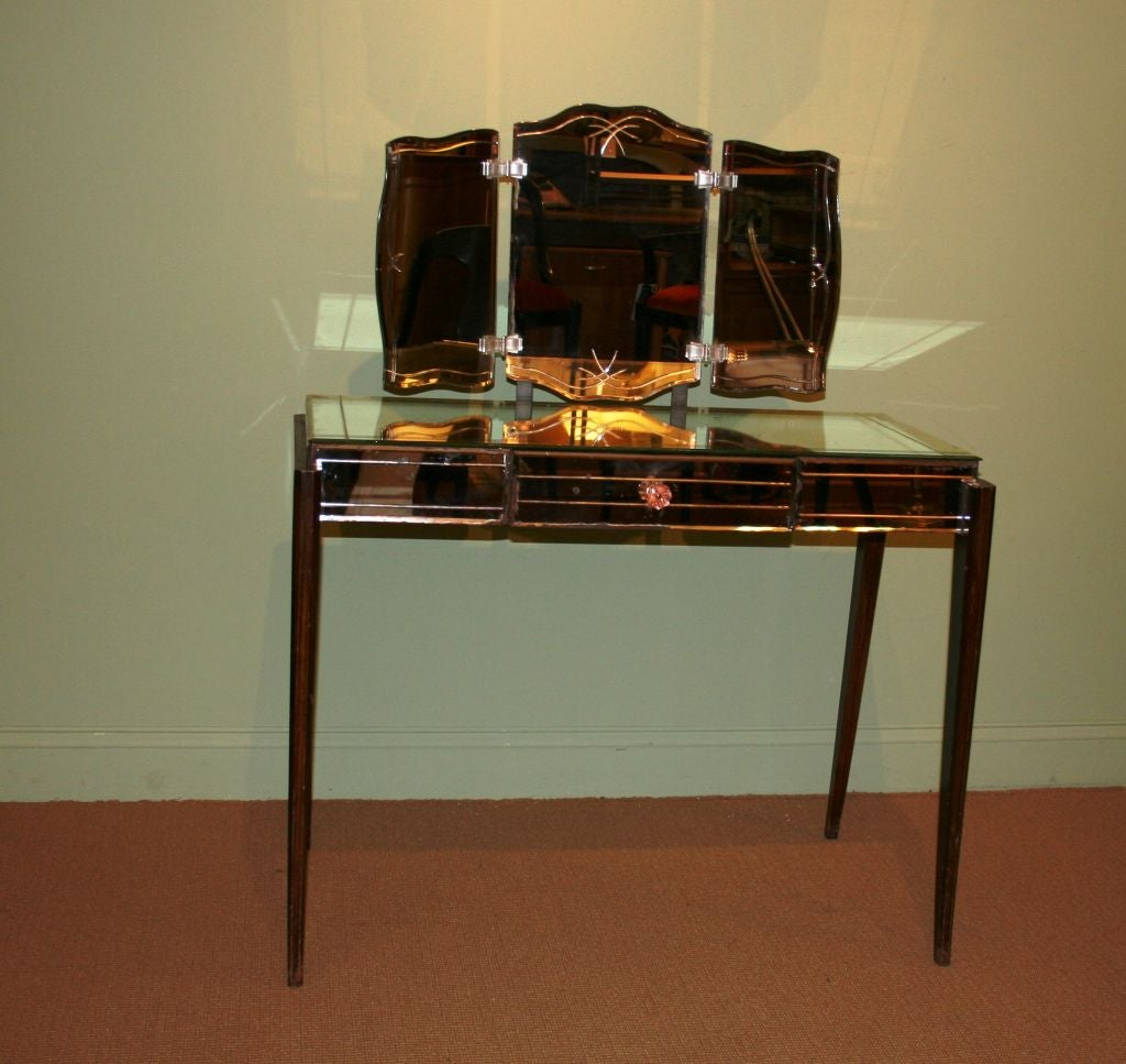 Mirrored Vanity Table At 1stdibs
