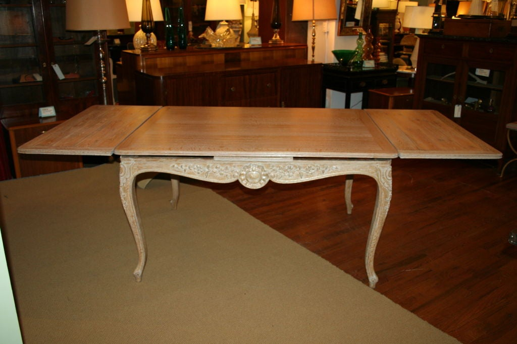 Elegant French Limed Oak Dining Table For Sale At 1stdibs
