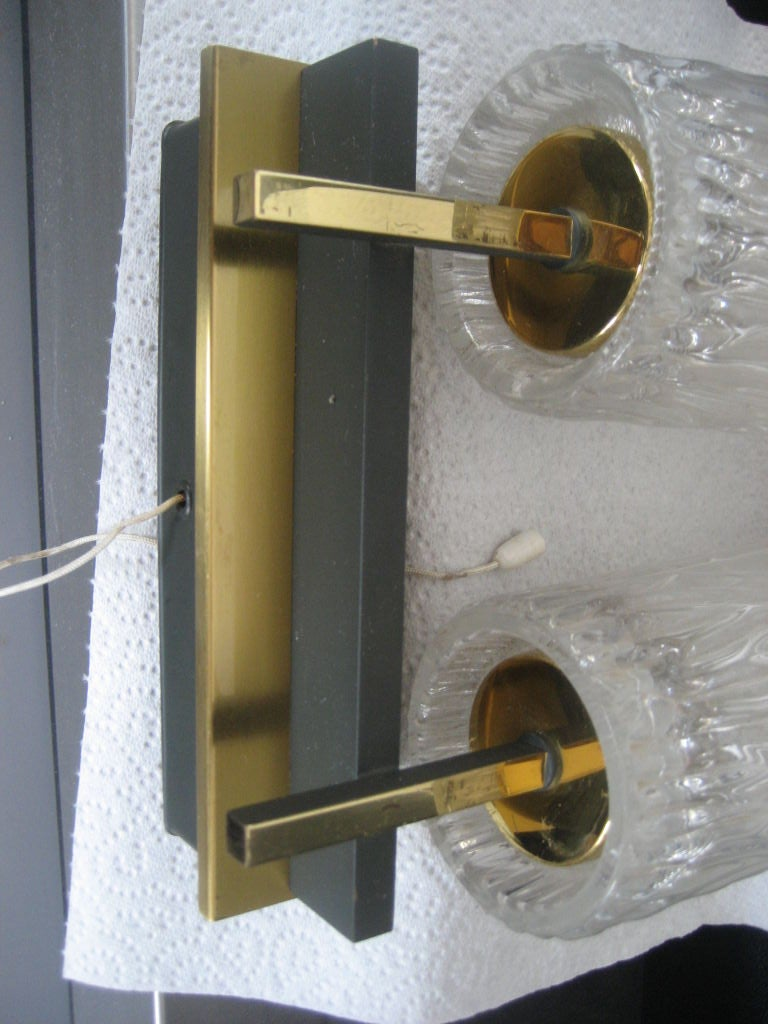 Pair of Mid-Century Modern Sconces In Good Condition For Sale In Long Island City, NY