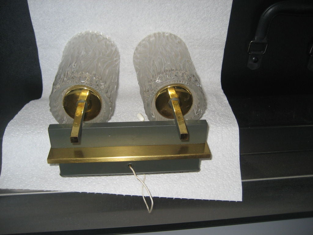 German Pair of Mid-Century Modern Sconces For Sale