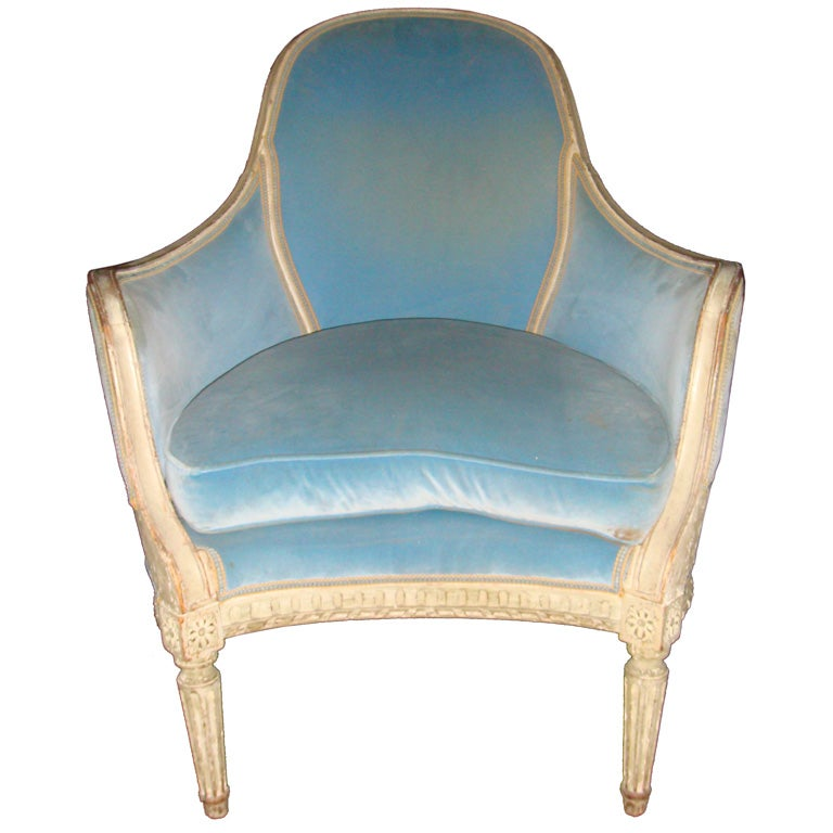 louis xvi bergere chair style at 1stdibs. Black Bedroom Furniture Sets. Home Design Ideas