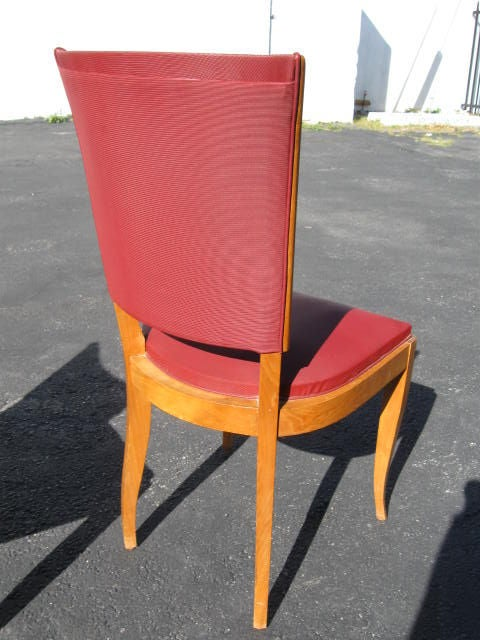 Mid-20th Century Set of 6 1940's French Dining chairs For Sale