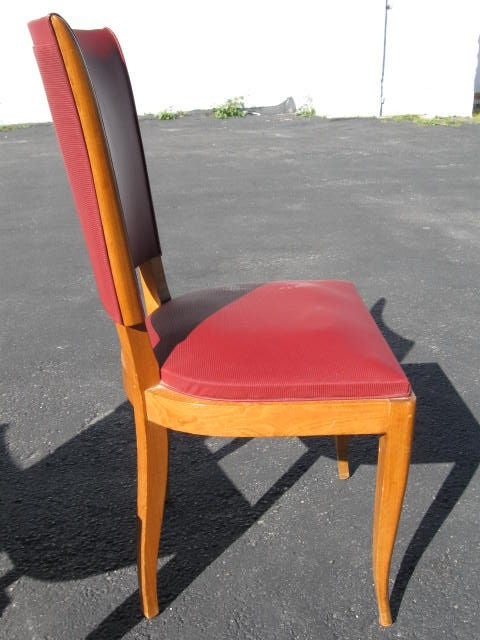 Set of 6 1940's French Dining chairs In Good Condition For Sale In Long Island City, NY