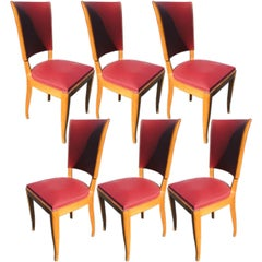 Set of 6 1940's French Dining chairs