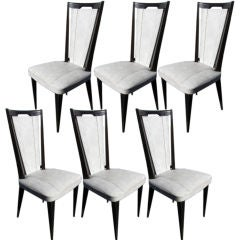 Set of 6 vintage French Dining Chairs