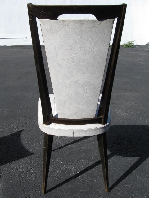 Mid-20th Century Set of 6 vintage French Dining Chairs For Sale