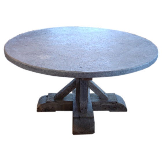 Round Teak and Blue Stone Dining Table at 1stdibs : porgdsc00225 from 1stdibs.com size 560 x 560 jpeg 23kB