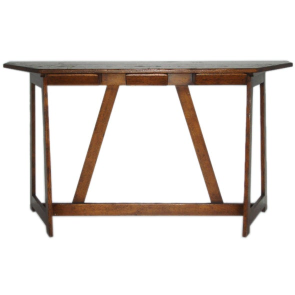 Stand Up Architect S Oak Desk At 1stdibs