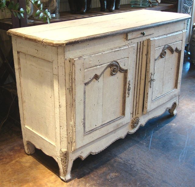 Antique White Painted French Buffet At 1stdibs