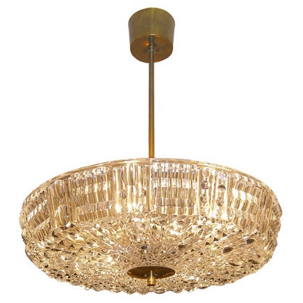 Carl Fagerlund for Orrefors Crystal Chandelier 1