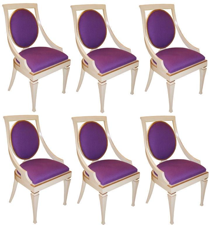 Set Of 6 John Widdicomb Dining Chairs 3