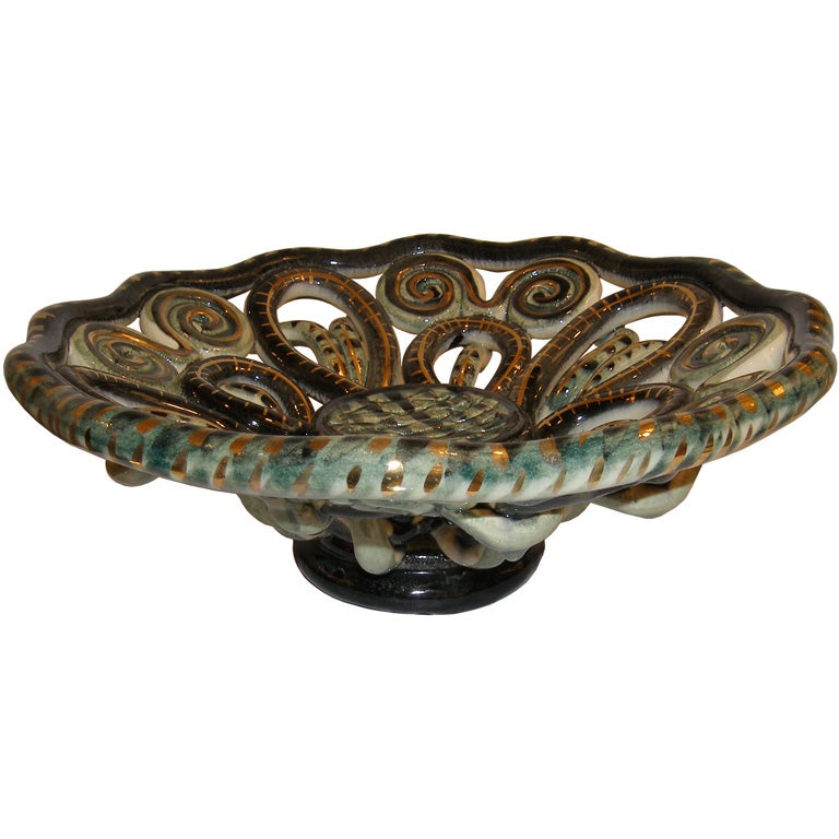 Gold Decorative Bowl Simple Vallauris Green And Gold Decorative Ceramic Bowl For Sale At 1Stdibs 2018