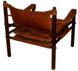 Arne Norell Leather Safari Chair image 2