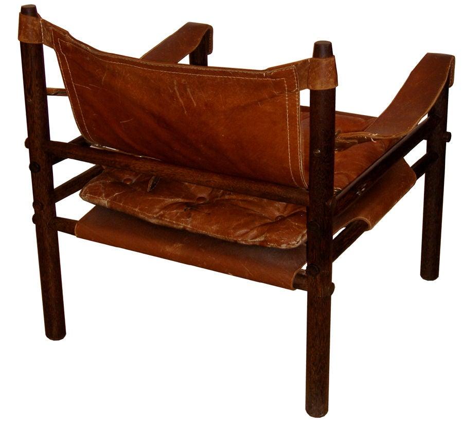 Arne Norell Leather Safari Chair 2