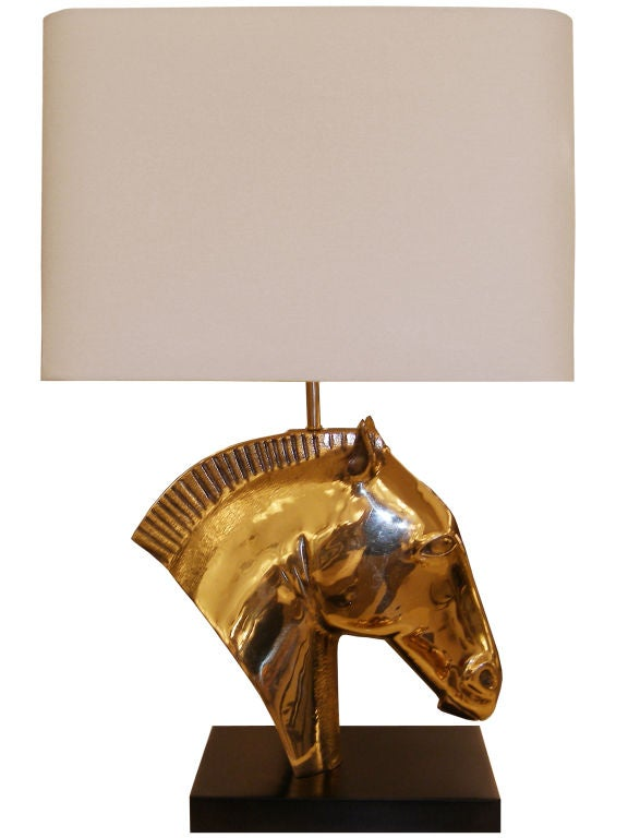 Bronze Horse Head Lamp
