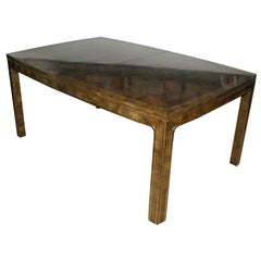 Dining Table in Bookmatched Carpathian Elm by Mastercraft