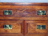 Campaign Style Chest in Oak with Brass Pulls by Henredon image 3