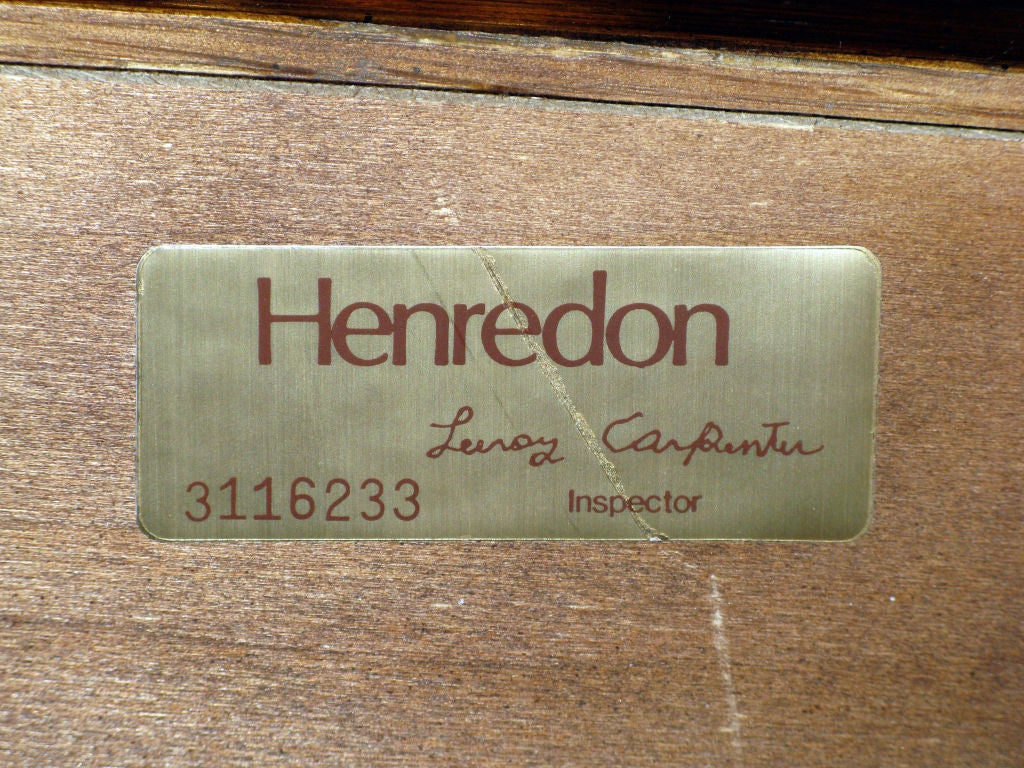 Campaign Style Chest in Oak with Brass Pulls by Henredon For Sale 2