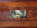 Campaign Style Chest in Oak with Brass Pulls by Henredon image 4