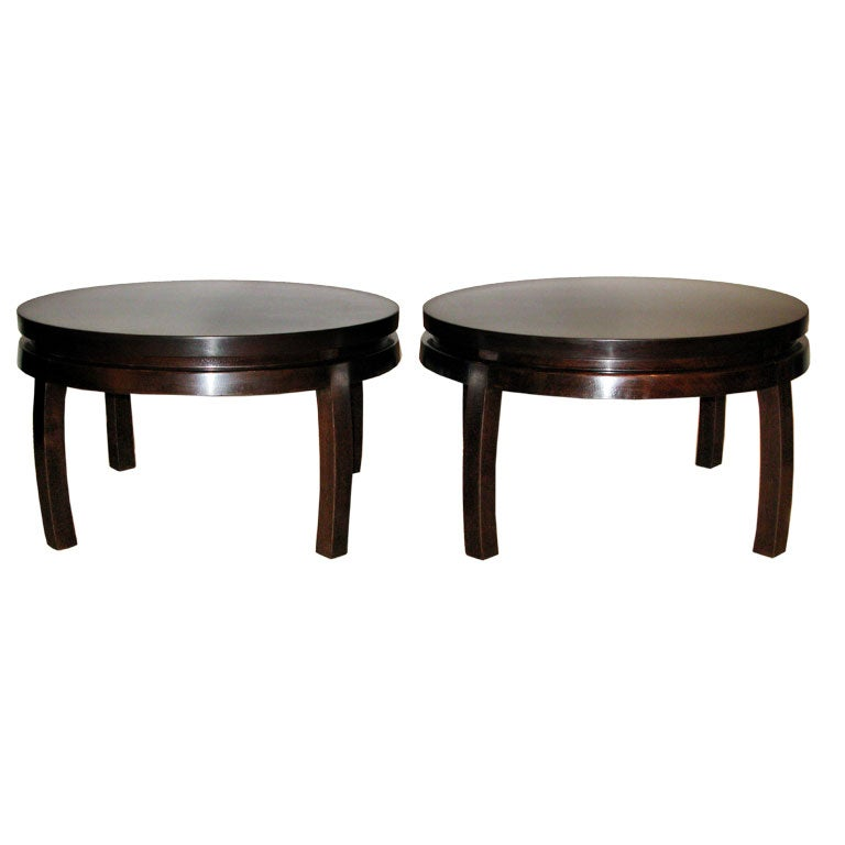 Pair Of Chinese Style Coffee Tables By Harvey Probber At 1stdibs