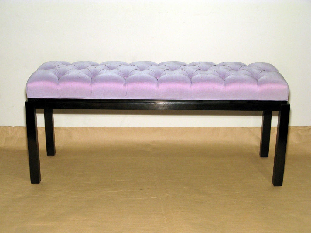 Bench With Tufted Seat And Mahogany Base By Harvey Probber At 1stdibs