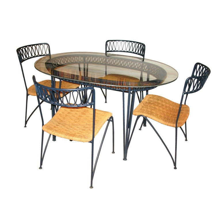 Patio Set with Ribbon Design by Tempestini for Salterini at 1stdibs