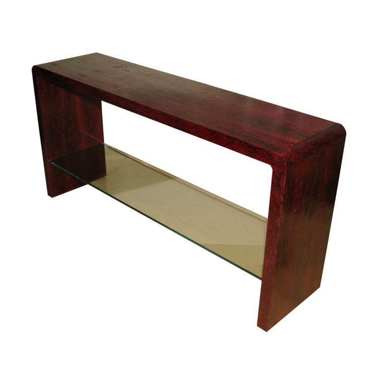 Exceptional python console table by karl springer at 1stdibs for Table in python