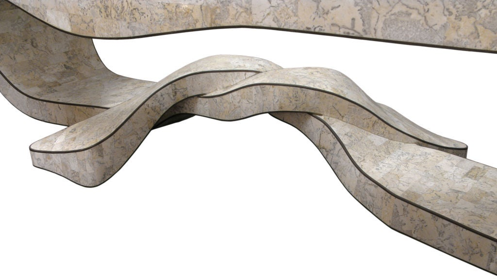 Hand-Crafted Sculptural Coffee Table in Tesselated Stone by Maitland Smith For Sale