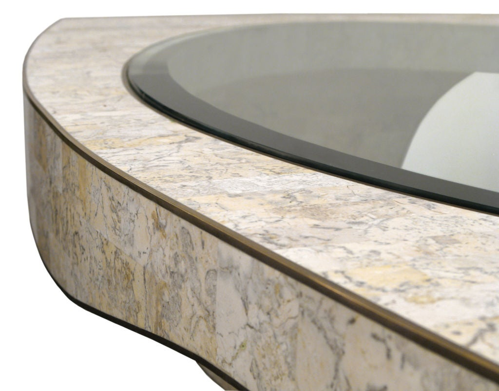Sculptural Coffee Table in Tesselated Stone by Maitland Smith In Excellent Condition For Sale In New York, NY