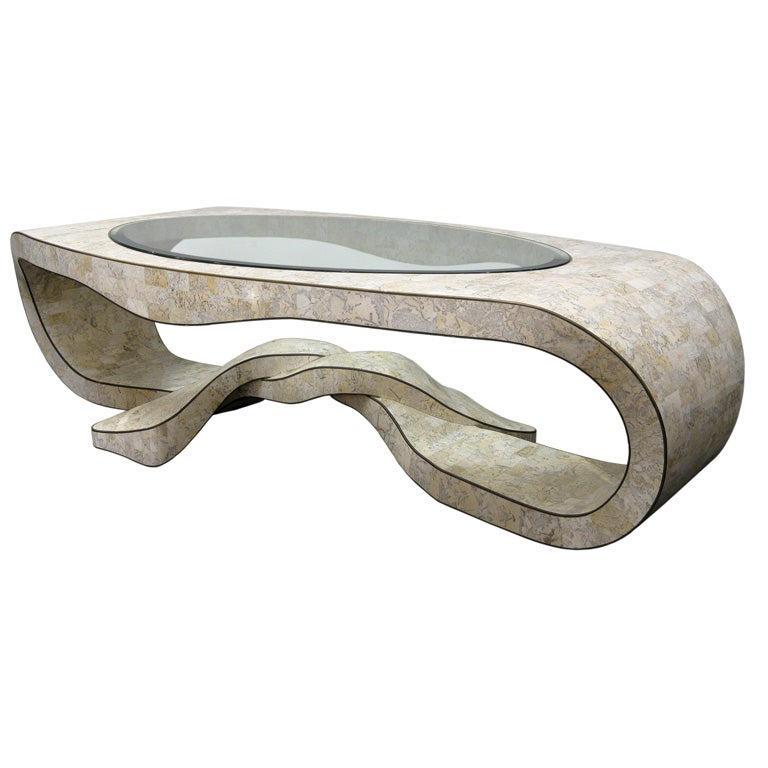 Glass Coffee Table Philippines: Sculptural Coffee Table In Tesselated Stone By Maitland