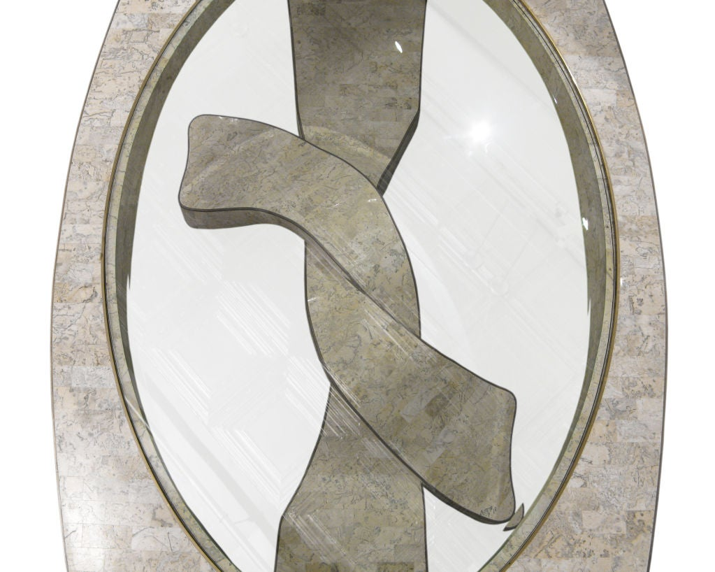 Philippine Sculptural Coffee Table in Tesselated Stone by Maitland Smith For Sale
