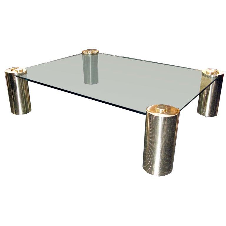 Https Www 1stdibs Com Furniture Tables Coffee Tables Cocktail Tables Large Coffee Table Brass Sculpture Legs Karl Springer Id F 190298