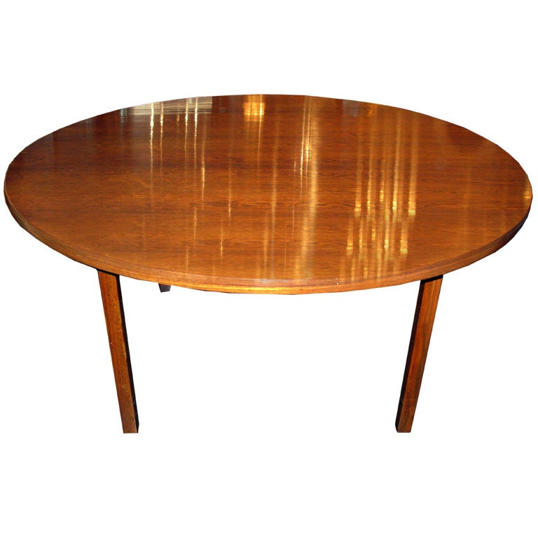 Round Dining Table in Brazilian Rosewood by Edward Wormley  : dunbar150rosewoodrounddiningtable102hires from 1stdibs.com size 768 x 768 jpeg 48kB