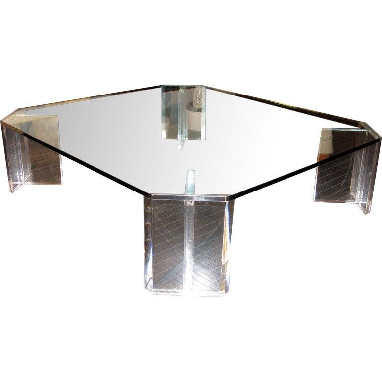 Large Cut Corner Coffee Table By Charles Hollis Jones At 1stdibs