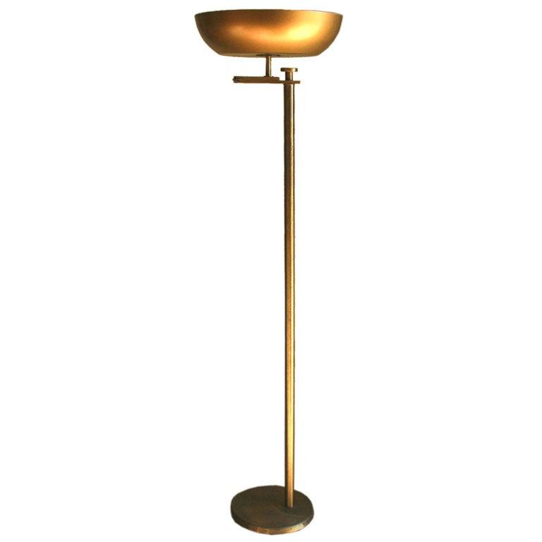Brass Modern Flip Top Floor Lamp At 1stdibs