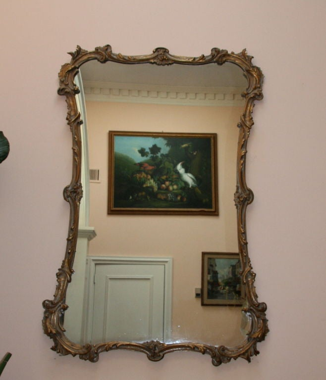 Large Italian Carved Giltwood Mirror 2