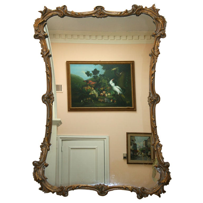 Large italian carved gilt wood mirror for sale at 1stdibs Large wooden mirrors for sale