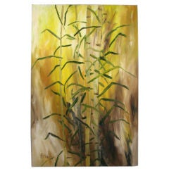 Southern Japanese Bamboo Oil Painting