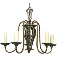 Five-Arm Tudor Style Chandelier