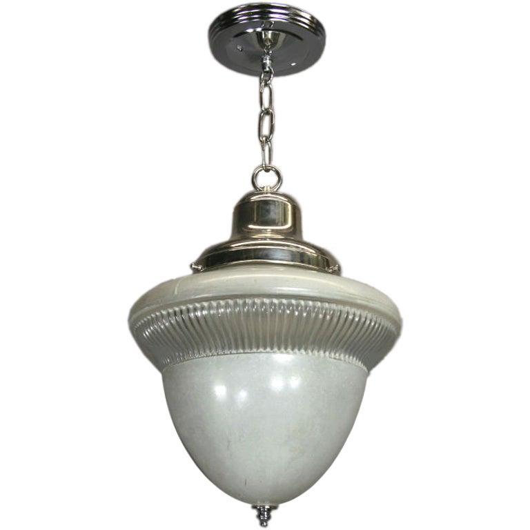 Acorn Glass Pendant, circa 1920s For Sale