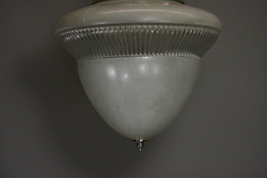 20th Century Acorn Glass Pendant, circa 1920s For Sale