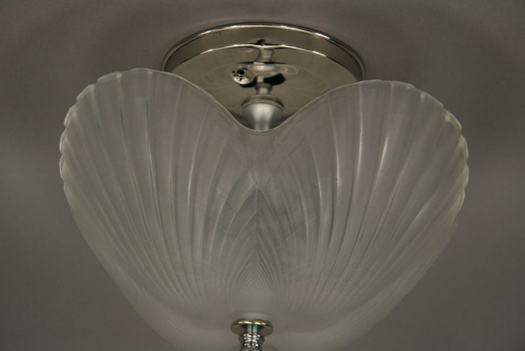 Shell glass flushmount at 1stdibs for Shell ceiling light fixtures
