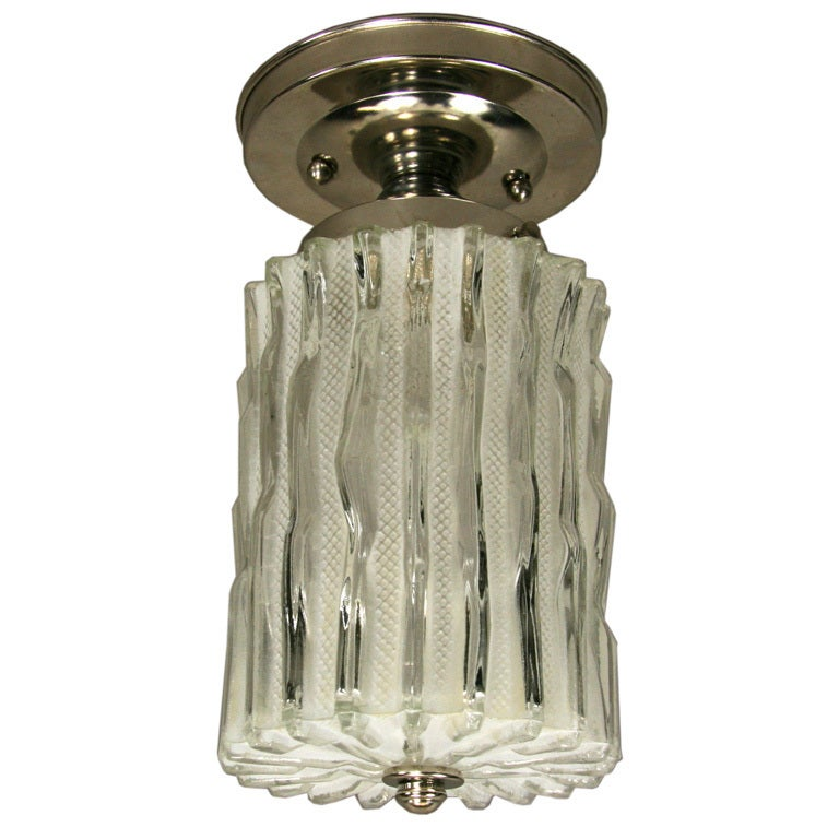 Murano Wavy Glass Flush Mount Or Pendant At 1stdibs
