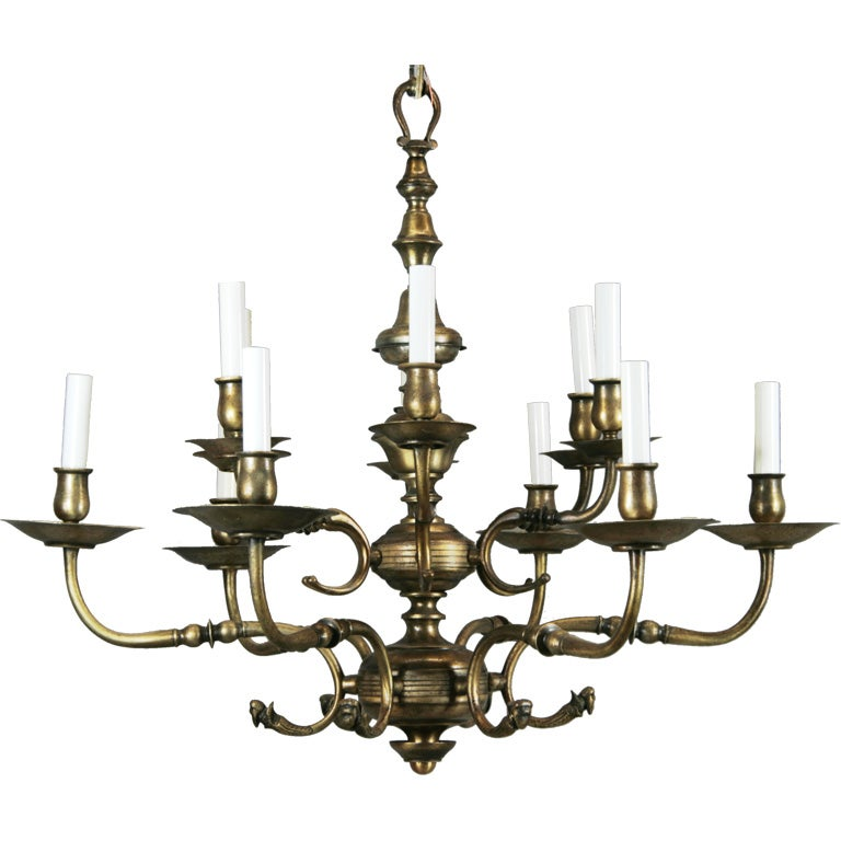 Circa 1930 39 s dutch style 12 arm chandelier at 1stdibs - Circa lighting chandeliers ...