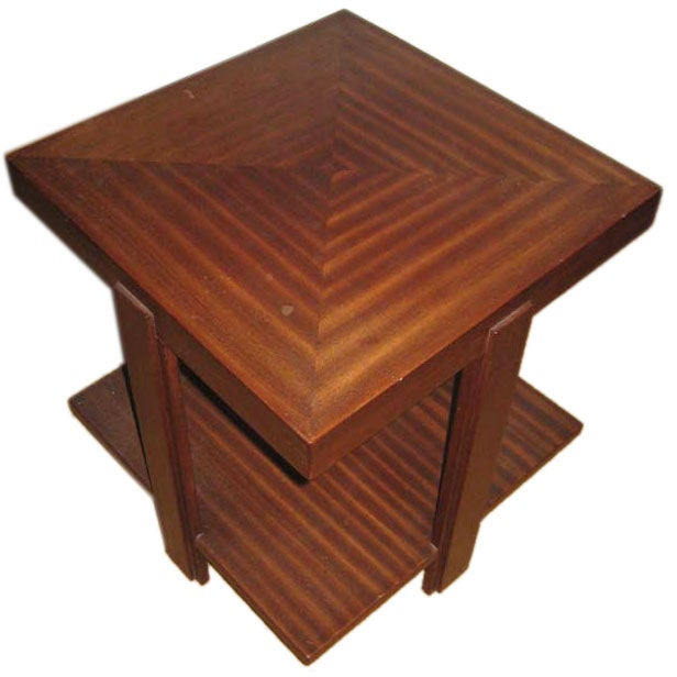 square deco coffee table for sale at 1stdibs. Black Bedroom Furniture Sets. Home Design Ideas